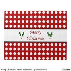 Merry Christmas with a Polka Dot pattern Puzzles