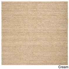 Hand Woven Casual Eco Natural Fiber Jute Round Area Rug-(8' Square)