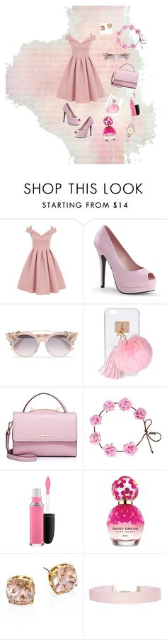 """Pink Princess"" by jess23l ❤ liked on Polyvore featuring Chi Chi, Jimmy Choo, Ashlyn'd, WithChic, MAC Cosmetics, Marc Jacobs, Tory Burch, Humble Chic, Summer and Pink"