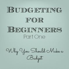Gingerly Made: Budgeting for Beginners: Part One, no idea where to put this so....future house it is