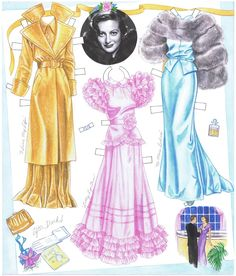 Joan Crawford Paper Doll by Marilyn Henry