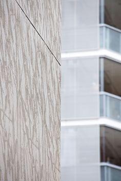 Helsingin Siluetti and Helsingin Akvarelli, Helsinki, Finland 2008 (housing). Architecture by B&M Architects, prefabrication by Pikon Betoni Oy. Grass Pattern, Dynamic Design, Repeating Patterns, Helsinki, Finland, Architects, Facade, Concrete, Buildings