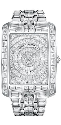 Holy Shitballz - give me a sunny day and that watch and I could blind a city block of people!  Harry Winston