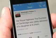 May 2, 2015 | The announcement of the birth of Princess Charlotte by Kensington Palace on Twitter | Chris Jackson/Getty Images