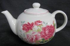 English Teapots Bone China Teapots made in England Roy Kirkham Crown Trent Sheltonian Royale Garden Springfield Summertime Rose Antique Rose...