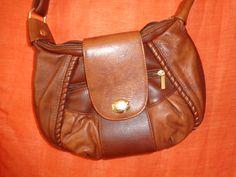 Vintage Handtaschen - Tasche*Vintage*braun*Leder*Beutel*used* - ein Designerstück von SweetSweetVintage bei DaWanda