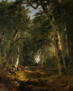 """In the Woods"" by Asher B. Durand, 1855; oil on canvas"