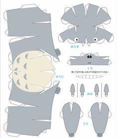 Totoro paper craft!