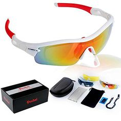d0c2aeb0e5 POSHEI P03 Polarized UV Protection Sports Glasses for Men or Women