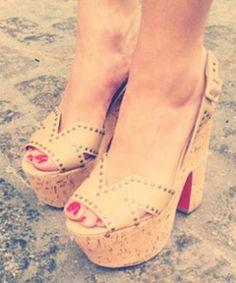 Love the polish and heel combination