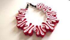 Statement Necklace Ombre Felt Necklace Felted Jewelry Recycled Eco Friendly Felt Bib Necklace In Red
