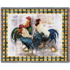 Pure Country Weavers 'Rooster Trio Blanket' Tapestry Throw >>> Find out more details by clicking the image (This is an amazon affiliate link. I may earn commission from it)