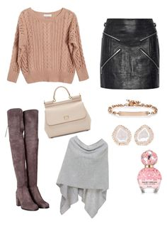 """Winter 1.1"" by cecithestylespotter ❤ liked on Polyvore featuring Dolce&Gabbana, Alexander Wang, Ryan Roche, Stuart Weitzman, Marc Jacobs, Hoorsenbuhs, Kimberly McDonald, Minnie Rose and cecithestylespotter"