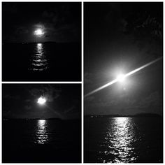 B&W moon light