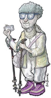 """Elide Bonadio, ragazza degli anni '30, é la """"nonna ufficiale"""" della Festa della Rete. Comparve qualche edizione fa, irrompendo in un panel sul benessere ad età avanzata, munita dei suoi bastoni per nordic walking, dai quali non si separa mai. Dotata di una vitalità che la medicina tradizionale non sa spiegare, riesce a seguire così tanti eventi della Festa che per un certo periodo si pensò fossero due gemelle.  Una volta all'anno però, quindi anche per la #FDR15, molla tutti e viene a…"""