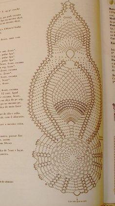 Kira crochet: Scheme no. 260 - Her Crochet Crochet Table Runner Pattern, Free Crochet Doily Patterns, Crochet Doily Diagram, Crochet Tablecloth, Crochet Chart, Thread Crochet, Filet Crochet, Crochet Motif, Crochet Doilies
