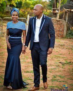 African sotho Shweshwe dresses for 2020 ⋆ African Wedding Attire, African Attire, African Wear, African Dress, African Traditional Wedding Dress, Traditional Wedding Attire, Traditional Outfits, African Print Fashion, Africa Fashion