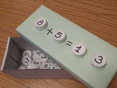 Usamos tapones para sumar y restar. En caja