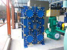 티타늄판형열교환기 해수열히펌프 대형 500RT용