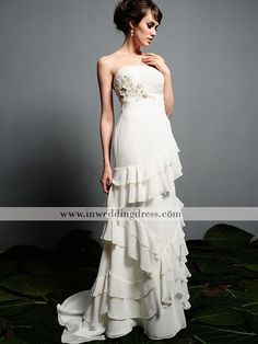 I don't know if this type of dress would look good on me, but there's something very unique and interesting about this one. She looks tall and slim and I'm petite with curves. Perhaps simpler would be better, but this is really cute.