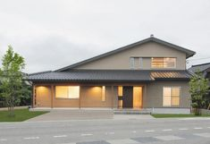 Fancy Houses, Japanese House, My Dream Home, Mid-century Modern, House Plans, Villa, Exterior, House Design, Mansions