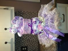 Diaper cake I made for baby Leah :)
