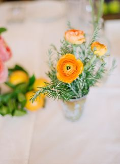 #ranunculus, #posiesPhotography: Esther Sun - esthersunphoto.comRead More: http://stylemepretty.com/2013/09/26/san-ysidro-ranch-wedding-from-esther-sun-photography/