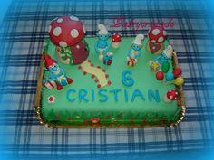 Patry's Cake:   Smurfs cake
