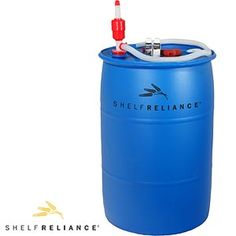 Shelf Reliance® BPA Free 55-gallon Barrel Water Storage System  Food Grade Water Barrel, Siphon Pump, Bung Wrench & Water Treatment Solution at Costco