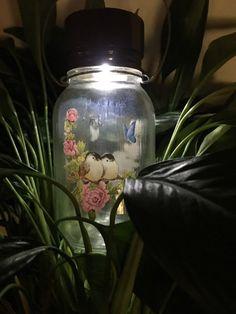 Solar Lights - Solar Mason Jars - Mason Jar Solar Lights - Home and Garden Decor - Garden Lantern - Upcycled Recycled Repurposed