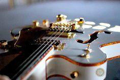 Cool Gretsch guitar.