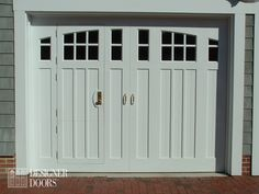 door garage pedestrian design with white