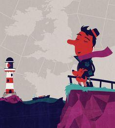 Spencer Wilson - Illustration for the Weather Magazine - Shipping Forecast  Tiphaine-illustration  #see #lighthouse #WeatherMagazine