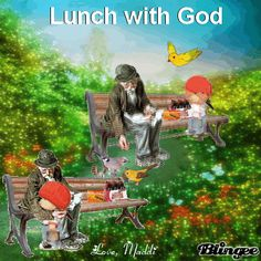 Lunch with God: by Maddi Photo Editor, Gods Love, Lunch, Animation, Pictures, Painting, Art, Photos, Art Background