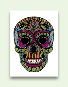 Sugar Skull canvas from Earthbound. Wish I could've gotten 2 instead of just 1 when I went. Sugar Skull Decor, Sugar Skulls, Earthbound Trading Company, College Room Decor, Creative Crafts, Yard Art, Canvas Wall Art, Mosaic, Crafty