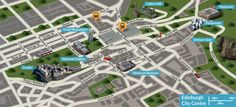 Our street map of Edinburgh City Centre shows visitors where the main attractions are in this area including Edinburgh Castle, The Scott Monument & The National Gallery.