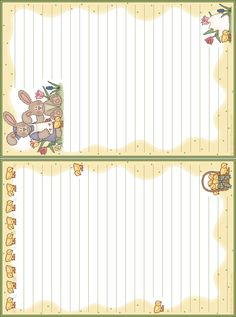 free printable note paper. Very useful notes for the kids.