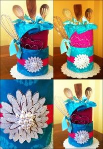 My Bridal Shower Tower- great DIY gift #bridalshower