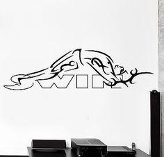 Wall Sticker Swim Swimmer Swimming Backstroke Sport Vinyl Decal (z2989)