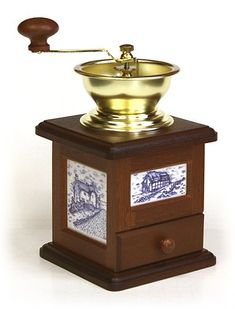 Delft Blue Farmhouse Coffee Grinder w/ Open Hopper by Hues and  Brews -- See this awesome image  : Coffee Maker