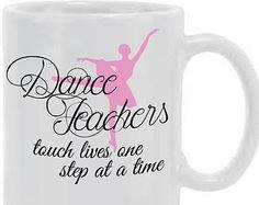 Personalized Dance Teacher Mug, dance teacher gift, dance teacher mug, dance teacher, recital mug, recital, ballet teacher