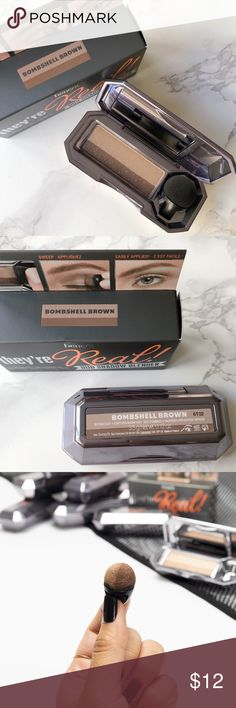 """Benefit Eyeshadow Duo in Bombshell Brown Brand new in box! """"Bombshell Brown"""" is a soft matte taupe and sable brown combo. Benefit Makeup Eyeshadow"""