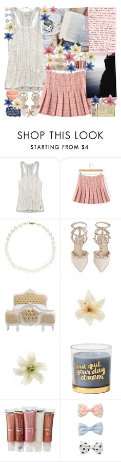 """""""//sky's more blue♥"""" by tropical-songwriter ❤ liked on Polyvore featuring Abercrombie & Fitch, TARA Pearls, Valentino, Clips, Sharpie, Forever 21, Pink, Blue, cream and plaid"""
