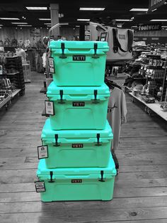 Limited edition YETI 'Sea Foam' coolers. These sold out FAST  (Roadie and Tundra)