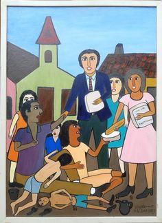 """Waldomiro de Deus. """"Fome de Tudo"""" (2003). 50x50 cm"""