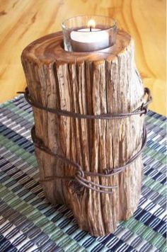 """Rustic Fence Post Candle (8"""" single)                                                                                                                                                                                 More"""