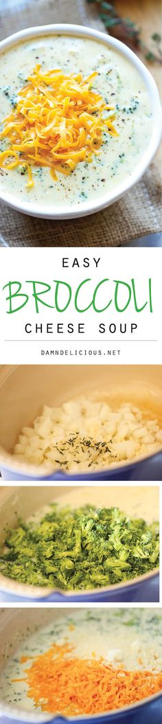 Cheese Soup - Warm, cheesy, rich broccoli cheese soup made in less than 30 minutes. Comfort food never tasted so good!Broccoli Cheese Soup - Warm, cheesy, rich broccoli cheese soup made in less than 30 minutes. Comfort food never tasted so good! Soup Recipes, Dinner Recipes, Cooking Recipes, Healthy Recipes, Velveeta Recipes, Yummy Recipes, Recipies, I Love Food, Good Food