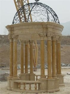 BEAUTIFUL-HAND-CARVED-MARBLE-EUROPEAN-STYLE-GAZEBO