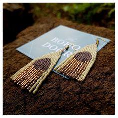 GLAZED LAVENDER EARRINGS • beaded earrings • colorful earrings • boho earrings • seed beads earrings •hoop earrings • gift for her