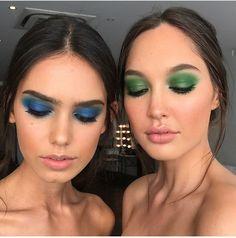 Green blue, makeup artists